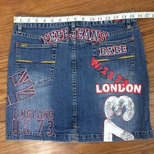Pepe Jeans Skirts - Pepe Jean skirt- light denim with London graphic-L 21dec44f5